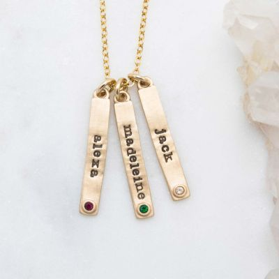 Bezel Birthstone Necklace {14K Gold}
