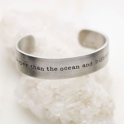 Deeper Than The Ocean Cuff {Pewter}