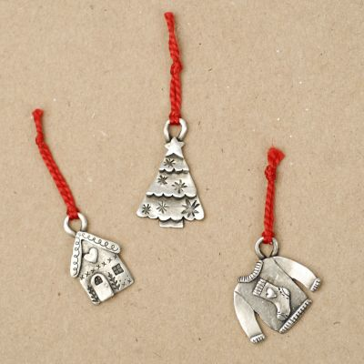 Our Christmas Tradition Advent Ornament Set {Pewter}