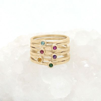 Always Together Birthstone Ring {10K Gold}
