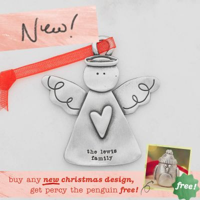 you're my angel ornament {pewter}
