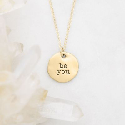 Be You Disc Necklace {10k Gold}