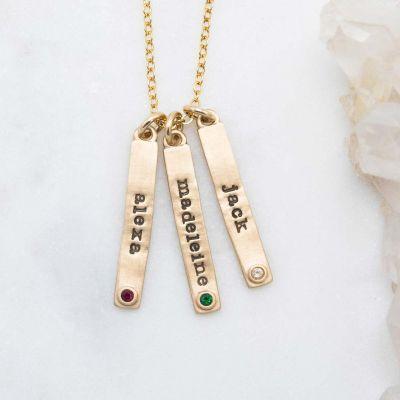 Bezel Birthstone Necklace {14K Gold}
