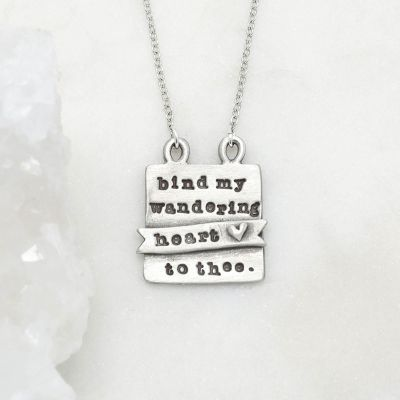 Bind My Heart Necklace {Pewter}