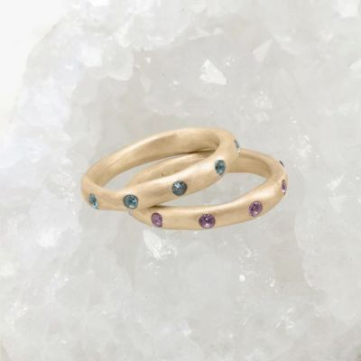 Birthstone Stacking Rings {10k Gold}