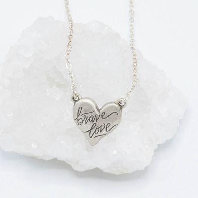 Brave Love® Emblem Necklace {Sterling Silver}