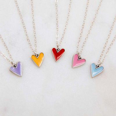 Brave Love® Tiny Heart Necklace {Sterling Silver}