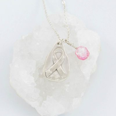 Breast Cancer Awareness Necklace {Sterling Silver}