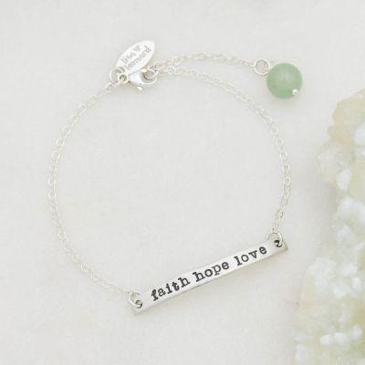 Personalized sterling silver carry my heart bracelet