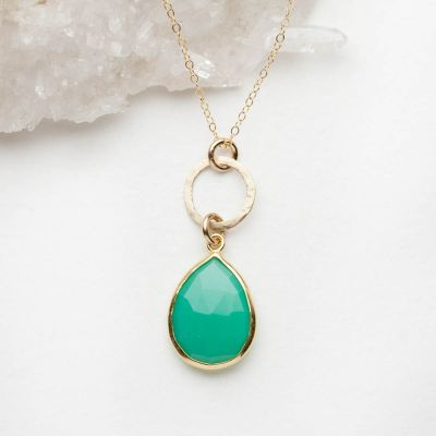 cool water clear sky gold filled necklace