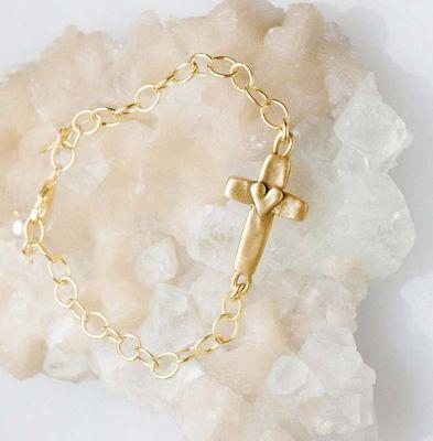 cross of faith bracelet 10k gold