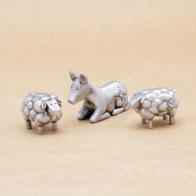 Extra Animal Nativity Figurine Set {pewter}
