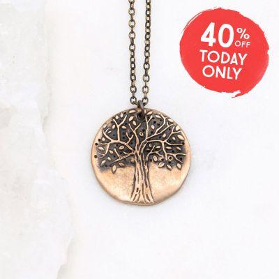 Family Tree Necklace {bronze}