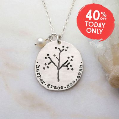 The Original Family Tree Necklace {Sterling Silver}
