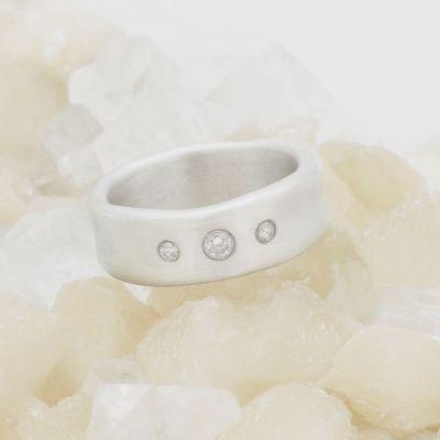 Faith Hope and Love Ring {10k White Gold}