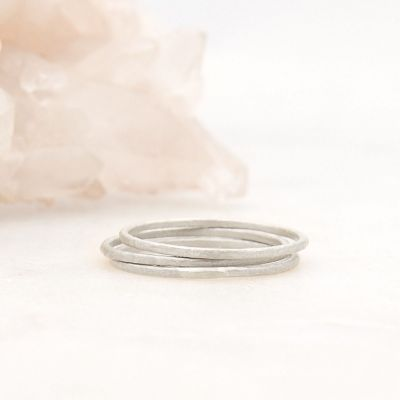 Featherweight stacking rings with 3 stackable ring handcrafted in sterling silver