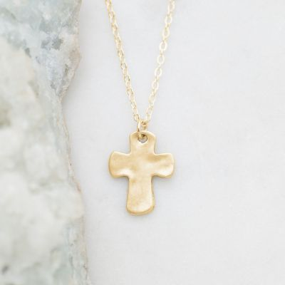 Grace For Today Cross Necklace {10K Gold}