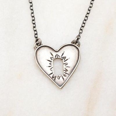 Heart Wide Open Necklace {Sterling Silver}