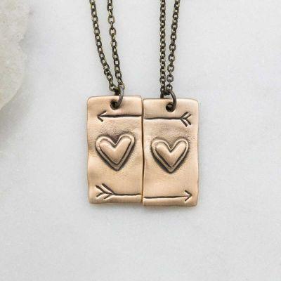 I Love You Necklace Set {Bronze}
