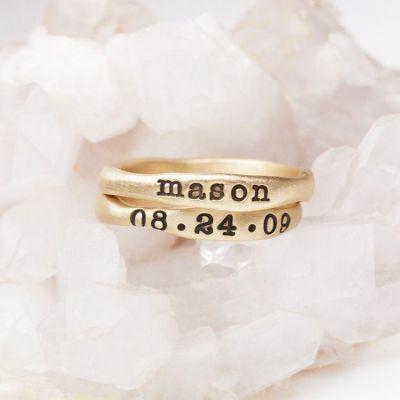 Gold Stacking Rings {14k Gold}