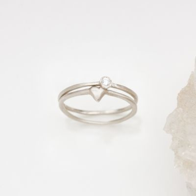 Love & Loss Ring Pair {Sterling Silver}