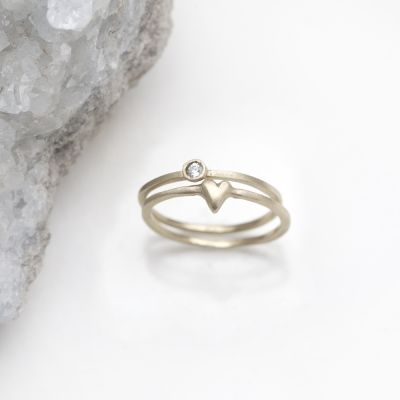 Love & Loss Ring Pair {14K Gold}