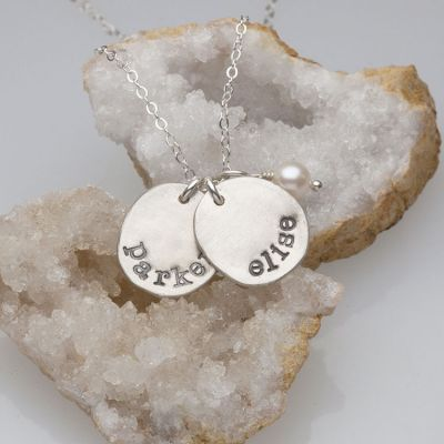 Sterling Silver Mother's Necklace - Petite