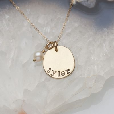 10K Gold Mother's Necklace - Petite