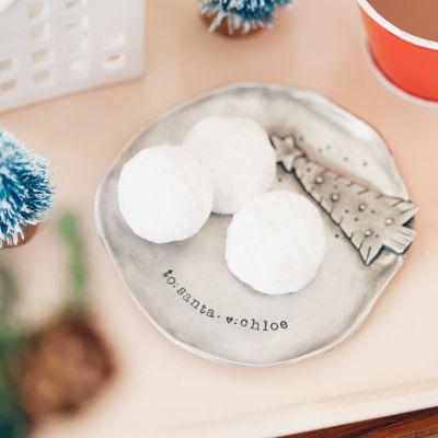Santa Plate {Pewter}