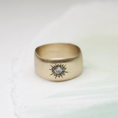 Sunburst Diamond Ring {10K Gold}