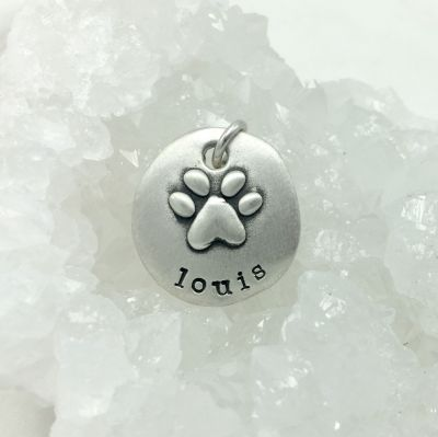 Furry Footprint Charm {Sterling Silver}