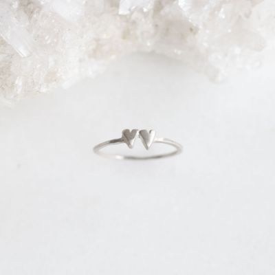 Sweet Love Ring - Two Hearts {Sterling Silver}