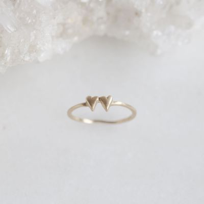 Sweet Love Ring - Two Hearts {10k Gold}