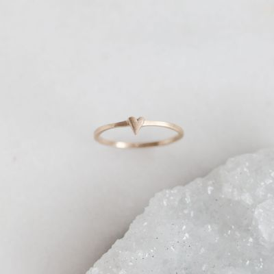 Sweet Love Ring - One Heart {10k Gold}