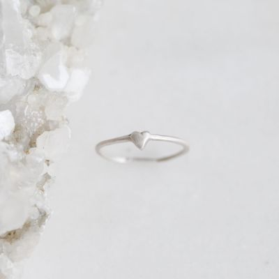 Sweet Love Ring - One Heart {sterling silver}