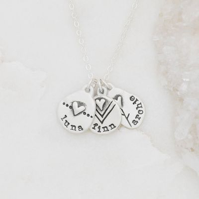 Personalized jumble of love necklace sterling silver