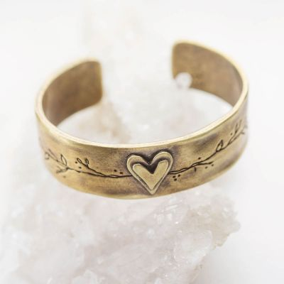 Let love grow bronze-plated cuff