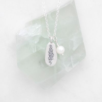 July Birth Flower Necklace {Sterling Silver}