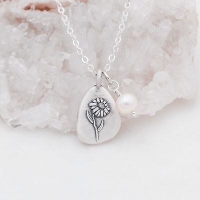 September Birth Flower Necklace {Sterling Silver}