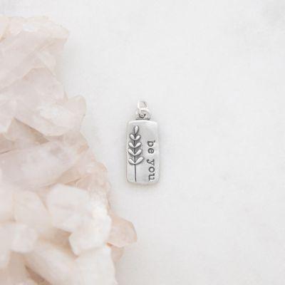 Leaf Charm {Sterling Silver}