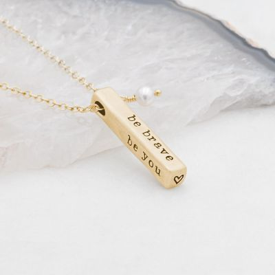 What Matters Most Necklace - 3 Sides {10k Gold}