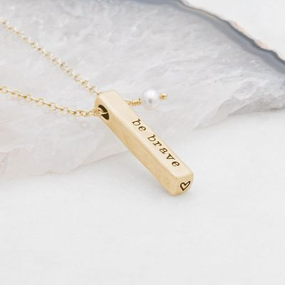 What Matters Most Necklace - 2 Sides {10k Gold}