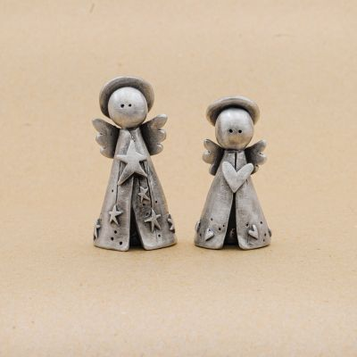 Angels on High Nativity Figurine Set {Pewter}