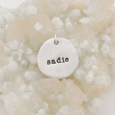 Beloved Name Charm {Sterling Silver}