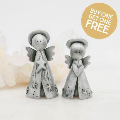 Angels on High Figurine Set {Pewter}