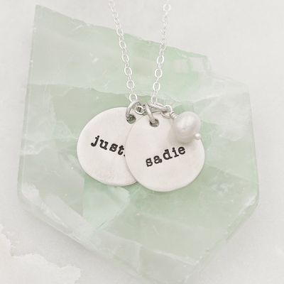 Beloved Name Disc Necklace {Sterling Silver}