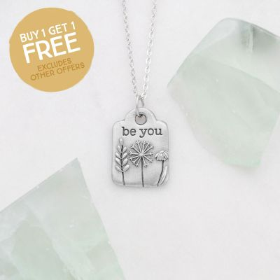 Be You Necklace {Pewter}