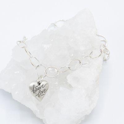 Brave Love® Emblem Bracelet {Sterling Silver}