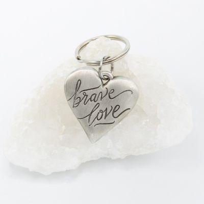 Brave Love® Emblem Keychain {Pewter}