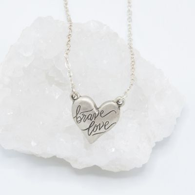 Brave Love® Emblem Necklace {Sterling Silver}